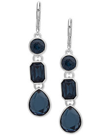 Nine West Crystal Triple Drop Earrings
