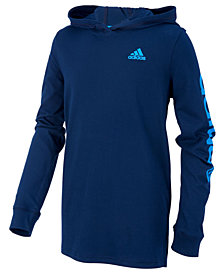 adidas Big Boys Cotton Logo-Graphic Hoodie