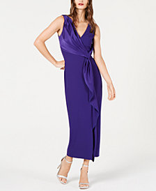 Rachel Zoe Satin Draped Sleeveless Dress