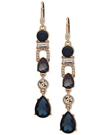 Ivanka Trump Gold-Tone Crystal & Crystal Linear Drop Earrings