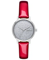 d94f3b41a DKNY Women's Modernist Red Patent Leather Strap Watch 32mm, Created for  Macy's