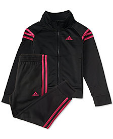 adidas Little Girls 2-Pc. Front-Zip Jacket & Jogger Pants