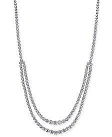 """Diamond Two Row Fancy 17"""" Collar Necklace (5-1/4 ct. t.w.) in 14k White Gold"""