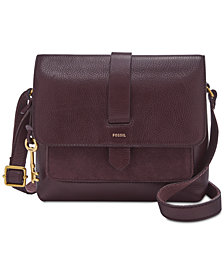 Fossil Kinley Small Suede Trim Crossbody