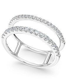 Diamond Two-Row Statement Ring (3/8 ct. t.w.) in 14k White Gold