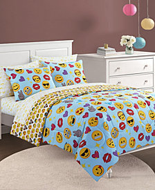 Emoji Pals Bling Bed In A Bag Light Blue