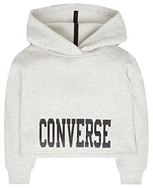 Converse Big Girls Cropped Fleece Hoodie