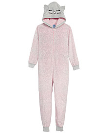 Max & Olivia Big Girls Cat Hooded Onesie, Created for Macy's