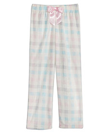 Max & Olivia Big Girls Plaid-Print Pajama Pants