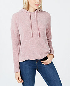 Hippie Rose Juniors' Chenille Hooded Sweater