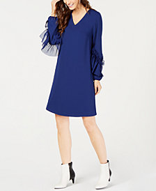 Alfani Petite Ruffle-Sleeve Shift Dress, Created for Macy's