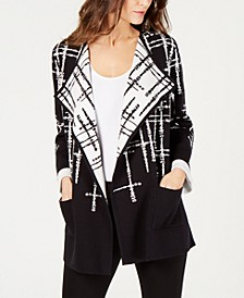Double-Knit Sweater Jacket, Created for Macy's