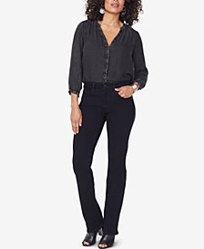 NYDJ Marilyn Tummy-Control Embellished Straight-Leg Jeans