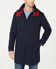 Tommy Hilfiger Men's Quest Modern-Fit Raincoat with Removable Hood