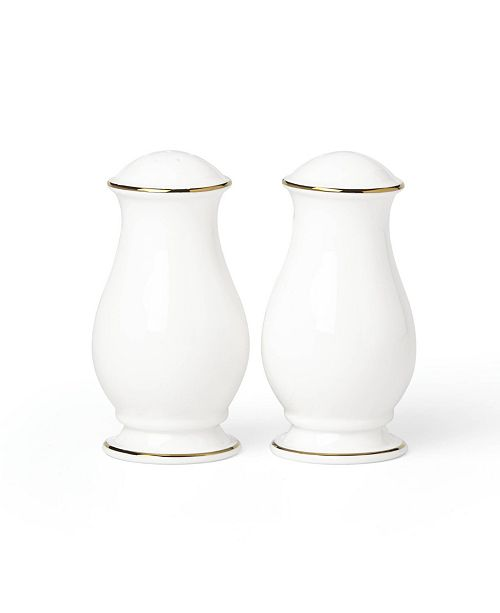 Lenox Continental Dining Gold Salt and Pepper Set