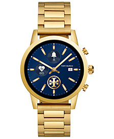 Tory Burch Women's Gigi ToryTrack Gold-Tone Stainless Steel Bracelet Touchscreen Smart Watch 40mm