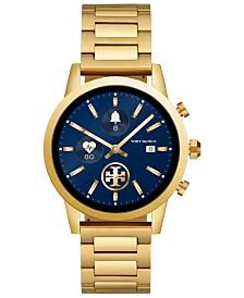 f55a0e07d412d Tory Burch Women s Gigi ToryTrack Gold-Tone Stainless Steel Bracelet  Touchscreen Smart Watch 40mm