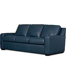 """Lisben II 83"""" Leather Sofa"""