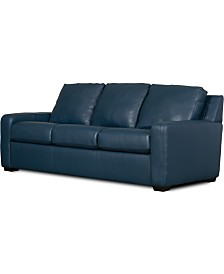 "Lisben II 83"" Leather Sofa"
