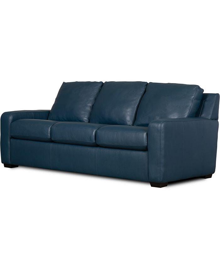 """Furniture - Lisben II 83"""" Leather Sofa"""