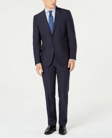 Men's Ready Flex Slim-Fit Stretch Blue Micro-Dot Suit