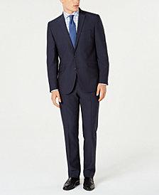 Kenneth Cole Reaction Men's Techni-Cole Slim-Fit Stretch Blue Micro-Dot Suit