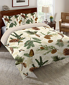 Laural Home Pinecone King Comforter