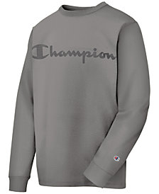 Champion Men's Logo Garment-Dyed Sweatshirt