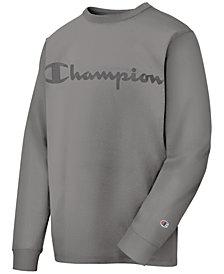 Champion Men's Logo Garment-Dyed Sweatshirt