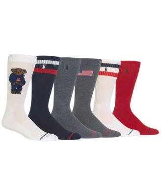 Men's 6-Pk. Denim Bear Socks