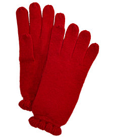 Charter Club Ruffled Cashmere Gloves, Created for Macy's