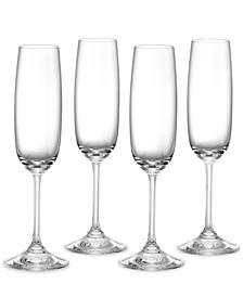 Champagne Flutes, Set of 4 Vintage
