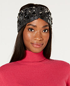 DKNY Embellished Knit Headband, Created for Macy's