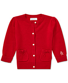 Polo Ralph Lauren Baby Girls Wool Puff-Sleeve Cardigan