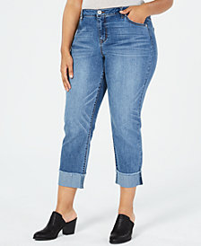 Style & Co Plus Size High-Rise Boyfriend-Fit Jeans, Created for Macy's