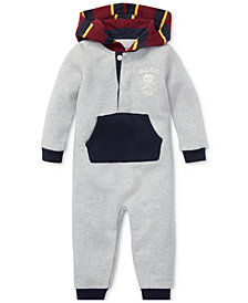 Polo Ralph Lauren Baby Boys Contrast Fleece Coverall