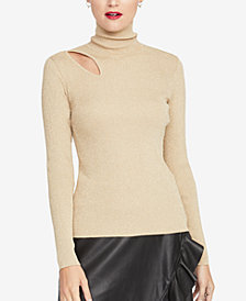 RACHEL Rachel Roy Cutout Turtleneck Sweater, Created for Macy's