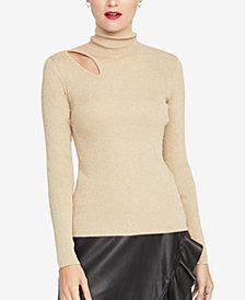 RACHEL Rachel Roy Cutout Turtleneck Sweater, Created for Macy's