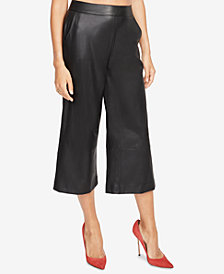 RACHEL Rachel Roy Cropped Faux-Leather Pants, Created for Macy's