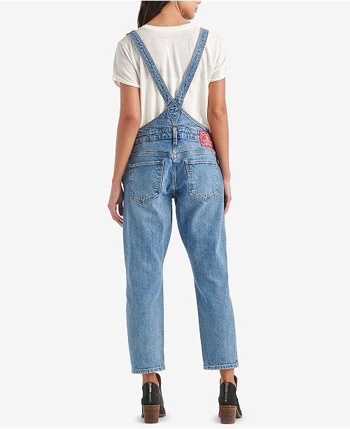 7d8178a38c Lucky Brand Boyfriend Denim Overalls   Reviews - Jeans - Women - Macy s