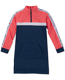 Tommy Hilfiger Big Girls Colorblocked Sweatshirt Dress