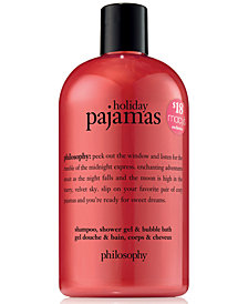 philosophy Holiday Pajamas Shampoo, Shower Gel & Bubble Bath, 16-oz.
