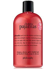 philosophy Holiday Pajamas Shampoo, Shower Gel & Bubble Bath, 16-oz. - Created for Macy's