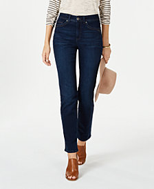 Style & Co Tummy Control Straight-Leg Jeans, Created for Macy's