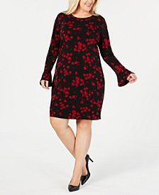 MICHAEL Michael Kors Plus Size Eden Rise Floral-Print Dress