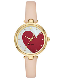 kate spade new york Women's Holland Vachetta Leather Strap Watch 34mm