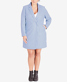 City Chic Trendy Plus Size Notched-Collar Coat