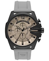 d34b4081d09 Diesel Men s Chronograph Mega Chief Gray Silicone Strap Watch 51mm