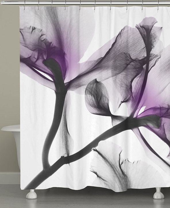Laural Home Lavendar Flwr Shower Curtain