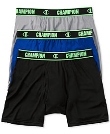 Champion Men's 3-Pk. Performance Boxer Briefs